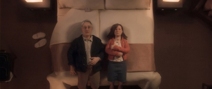 Michael (David Thewlis) and Lisa (Jennifer Jason Leight share a moment of (un)comfortable silence in ANOMALISA, by Paramount Pictures