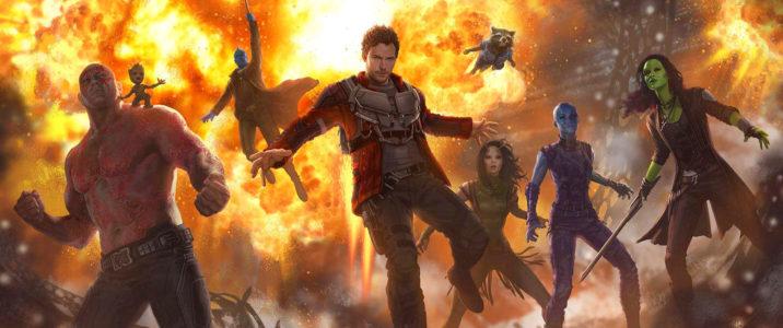 The Guardians (from left to right, Dave Bautista, Vin Diesel, Michael Rooker, Chris Pratt, Pom Klementieff, Bradley Cooper, Karen Gillan and Zoe Saldana) are back!