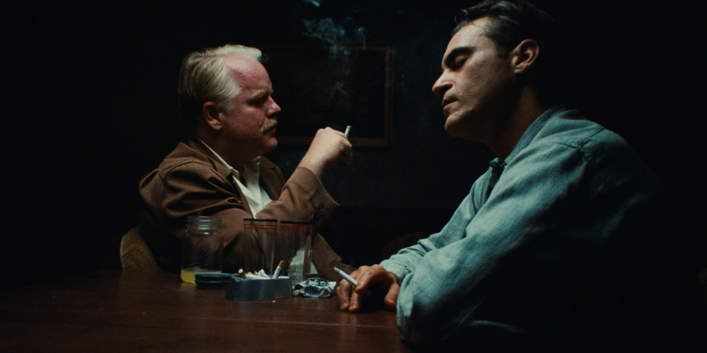 the master screenshot joaquin phoenix philip seymour hoffman smoking