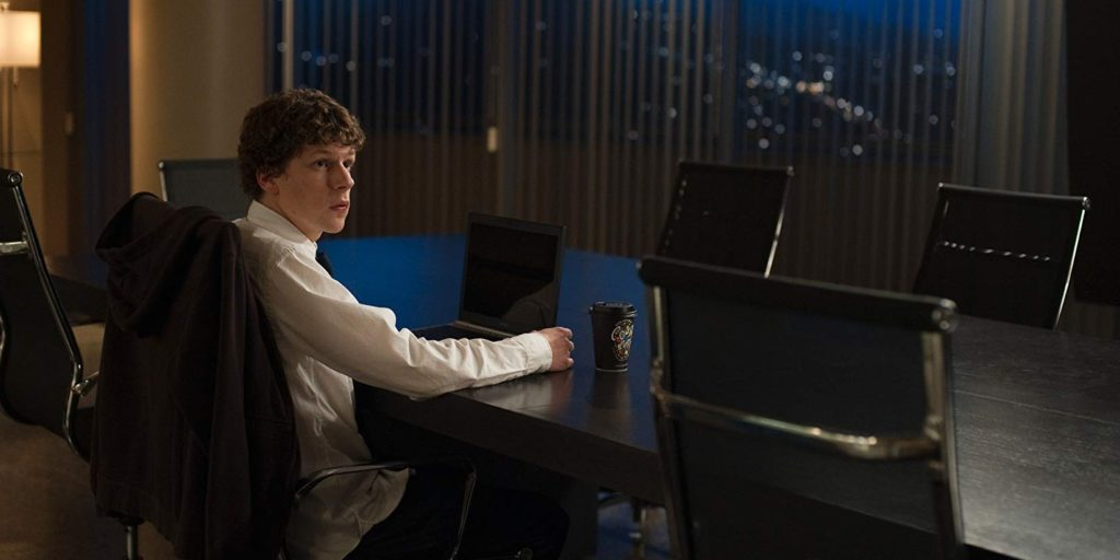 social network screenshot jesse eisenberg david fincher