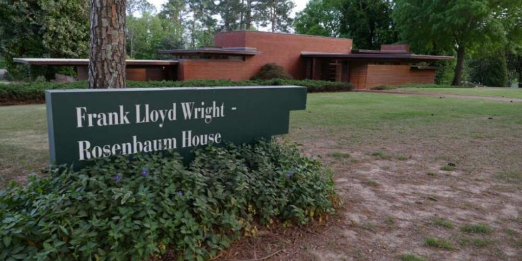 """A still image from the documentary feature """"A House is Not a Home: Wright or Wrong"""" of the Rosenbaum House in Florence, Alabama"""